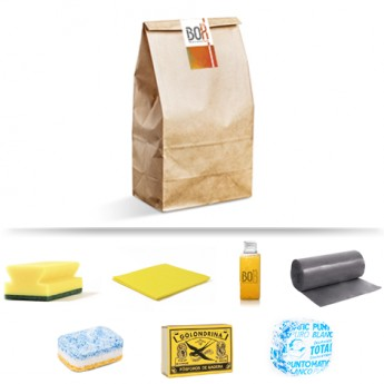Kit de limpieza Poniente en bolsa de papel