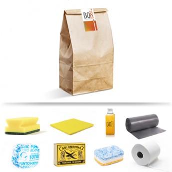 Kit de bienvenida Xaloc en bolsa de papel Kraft