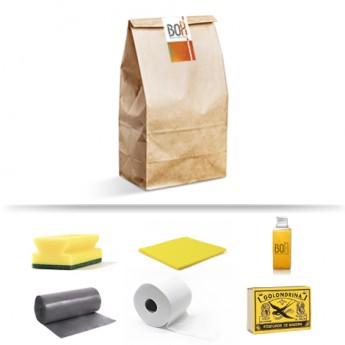 Kit de bienvenida Biruji en bolsa de papel Kraft
