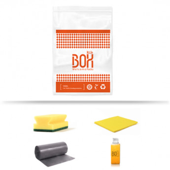 Kit de limpieza cierzo en bolsa de plástico biodegradable