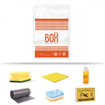 Kit de limpieza galerna en bolsa de plástico biodegradable
